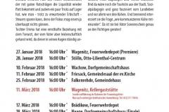 Terminplan Wagesäcke 2018